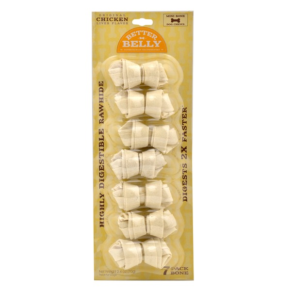 Better Belly Large Rawhide Total Dental Care Dog Chews 14.1 Oz.