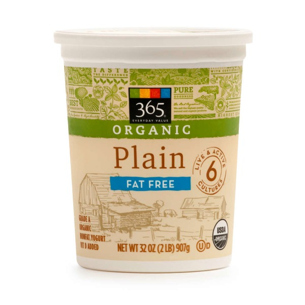 365 Fat Free Plain Yogurt