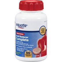 Equate Dual Action Acid Reducer Complete Chewable Tablets, 50 Ct