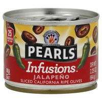 Pearls Infusions Jalapeno Sliced California Ripe Black Olives