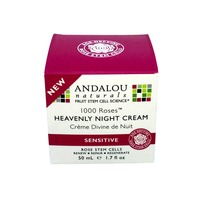 Andalou Naturals 1000 Roses Heavenly Night Cream for Sensitive Skin