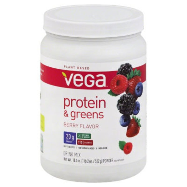 Vega Protein & Greens Berry Flavor Drink Mix