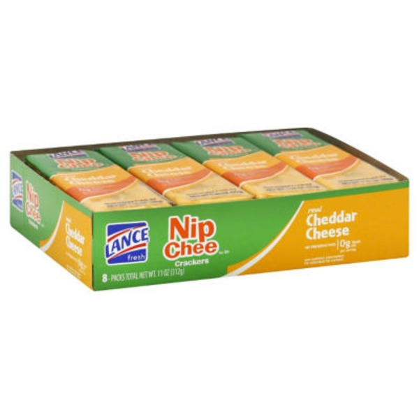 Lance Nip Chee Real Cheddar Cheese Sandwich Crackers