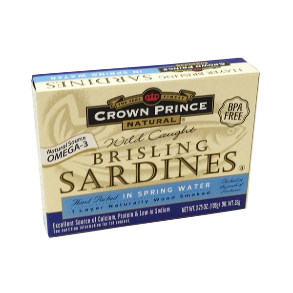 Crown Prince Brisling Sardines In Water