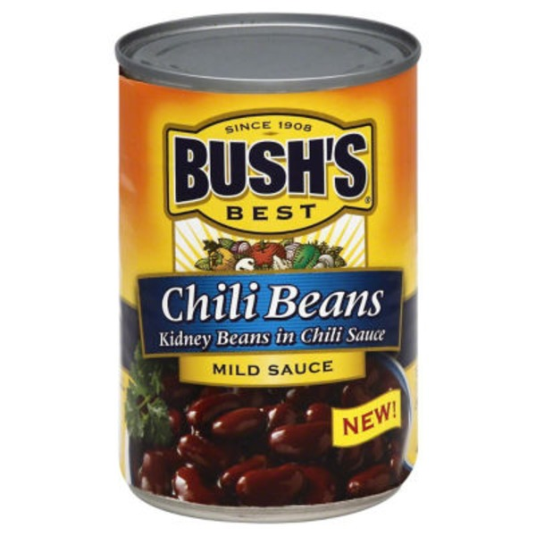 Bush's Best Kidney Beans in Chili Sauce Mild Chili Beans