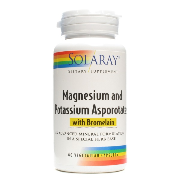 Solaray Magnesium And Potassium Asporotates With Bromelain