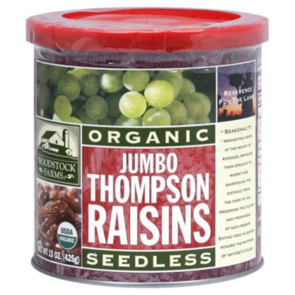 Woodstock Farms Organic Jumbo Thompson Raisins