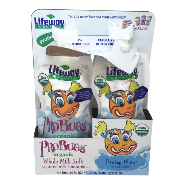 Lifeway Probugs Pretty Plain Whole Milk Kefir Organic