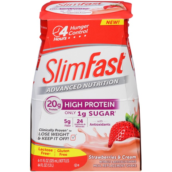 Slimfast Advanced Nutrition Strawberries & Cream Meal Replacement Shake