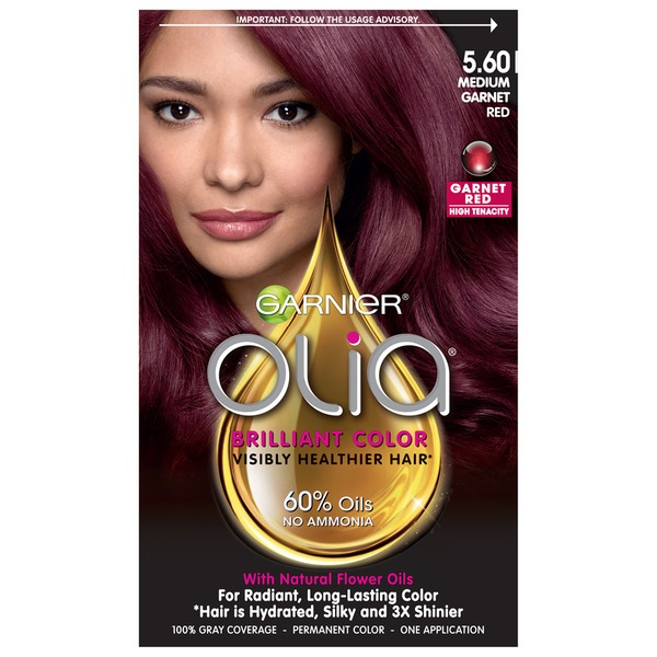 Olia™ 5.60 Medium Garnet Red Oil Powered Permanent Color