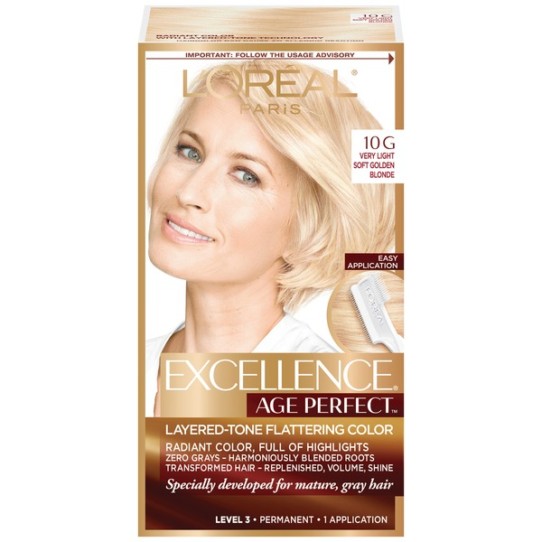 Excellence Age Perfect Layered-Tone Flattering Color 10G Very Light Soft Golden Blonde Hair Color
