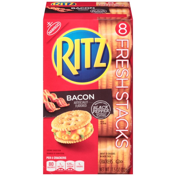 Nabisco Ritz Fresh Stacks Bacon Crackers
