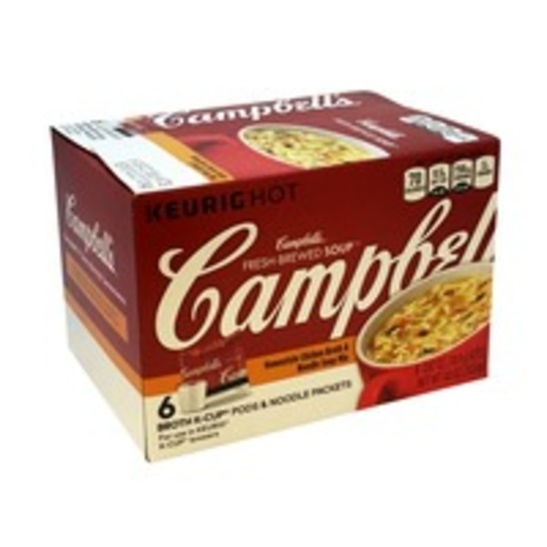 Campbell's Fresh Brewed Southwest Style Chicken Broth & Noodle Soup Mix K-Cup Pods