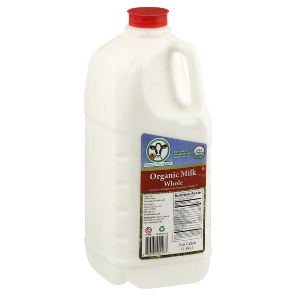 County Line Farms Organic Whole Milk