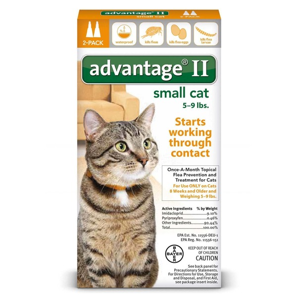 Advantage II Topical Flea Treatment for Small Cats 5-9 lbs