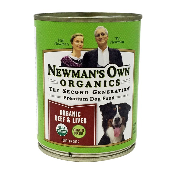 Newman's Own Grain Free Organic Beef & Liver Premium Dog Food