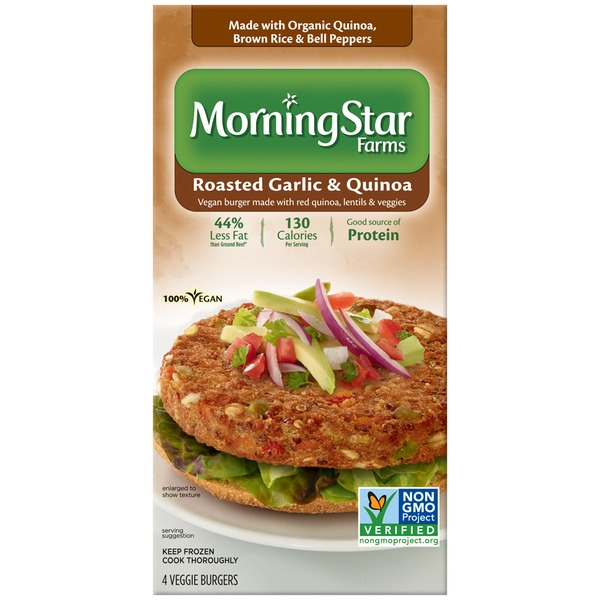 Morning Star Farms Roasted Garlic & Quinoa Veggie Burgers