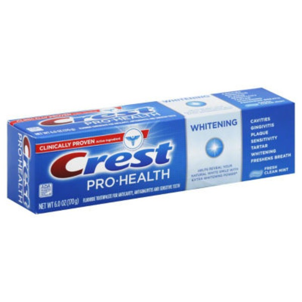 Crest Pro-Health Whitening Fresh Clean Mint Toothpaste 6 Oz  Oral Care