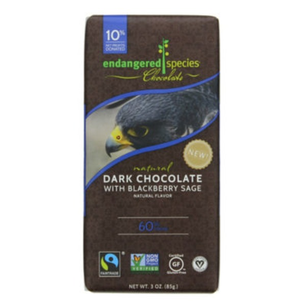 Endangered Species Dark Chocolate With Blackberry Sage