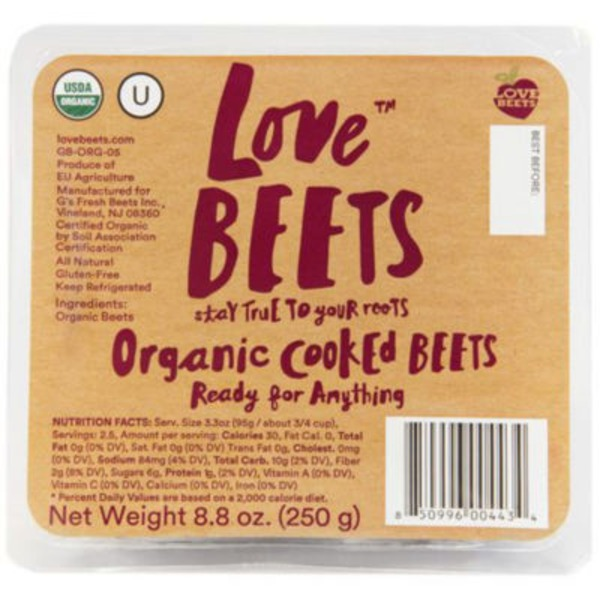 Love Beets Organic Cooked Peeled Beets