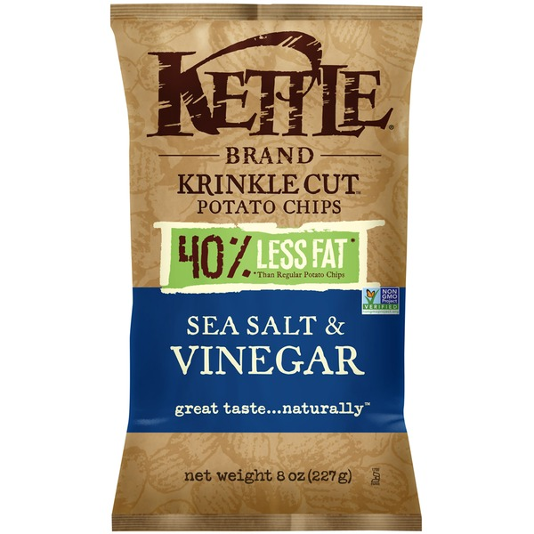 Kettle Brand® Krinkle Cut Reduced Fat Sea Salt & Vinegar Potato Chips