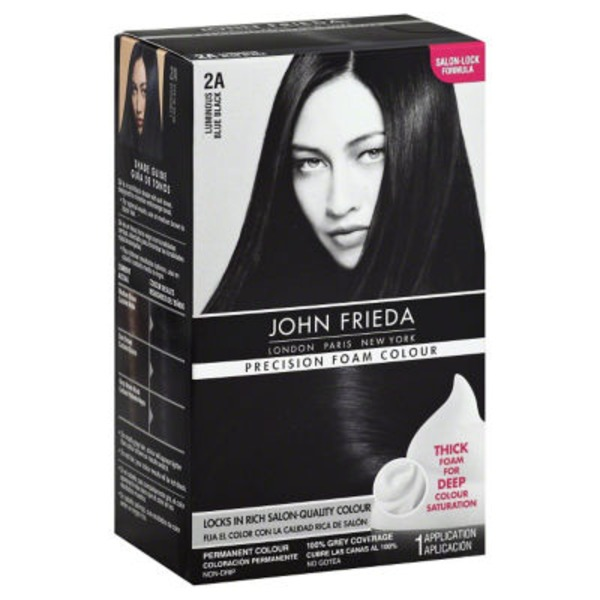 John Frieda Hair Color Luminous Blue Black 2A Precision Foam Colour