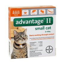 Advantage II Flea and Lice Treatment for Small Cats, 4 Monthly Doses