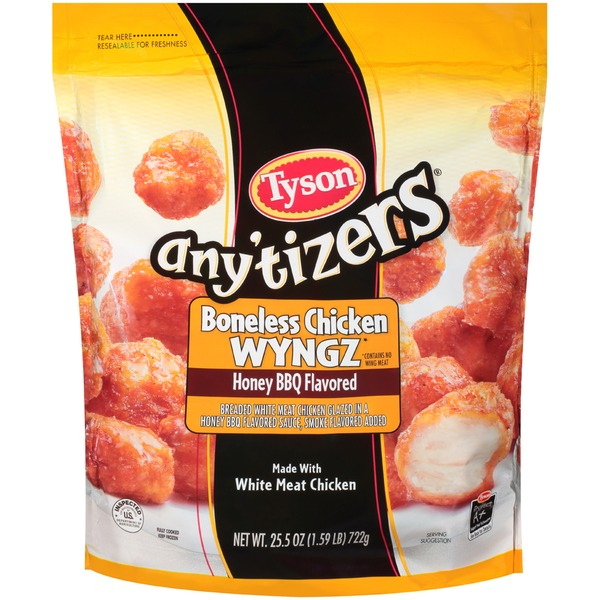 Any'tizers Boneless Honey BBQ Chicken Wyngz