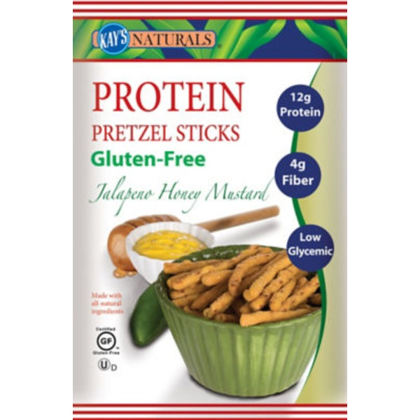 Kays Naturals Jalapeno Honey Mustard Protein Pretzel Sticks