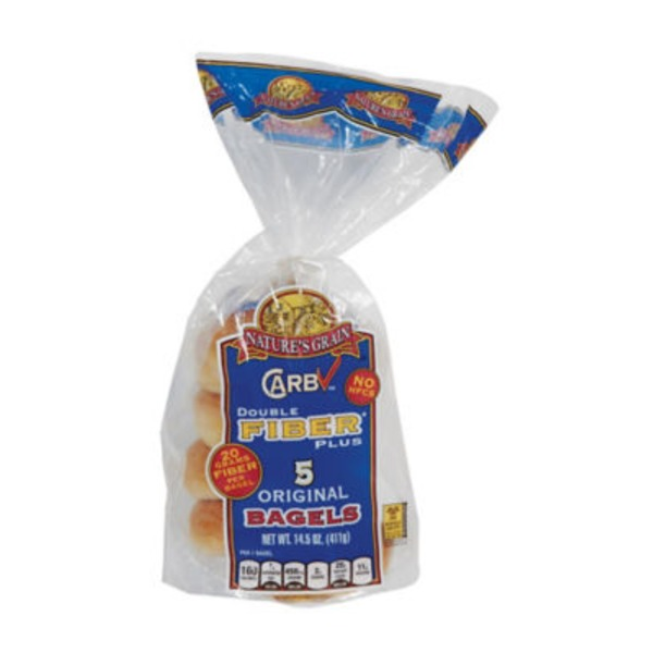 Nature's Grain Carb Check Double Fiber Plus Original Bagels