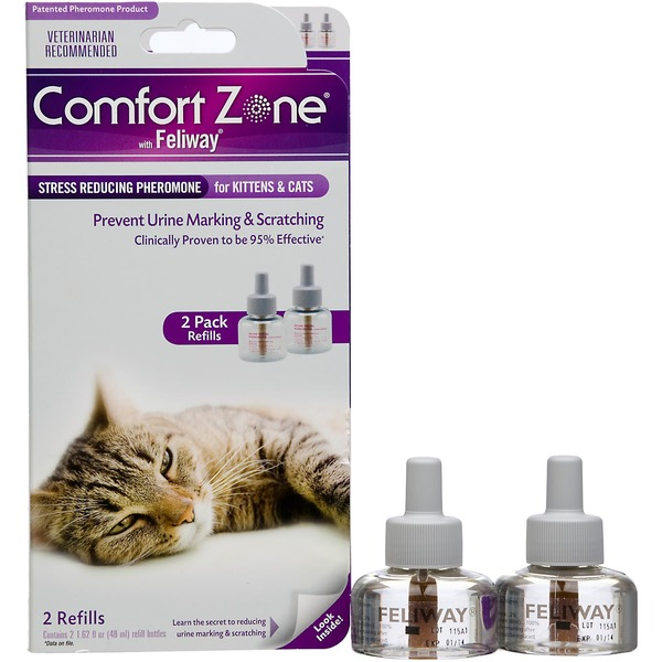 Comfort Zone with Feliway Stress Reducing Pheromone for Kittens & Cats Refills