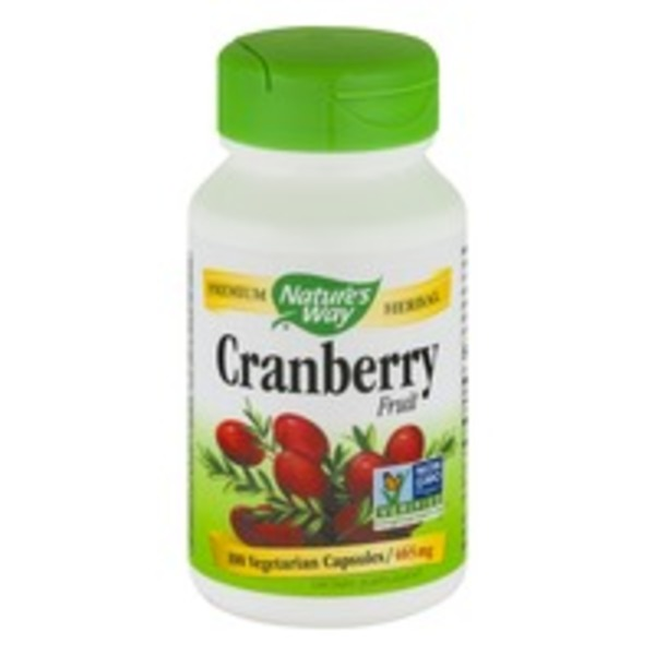 Nature's Way Cranberry Fruit Vegetarian Capsules 465 mg - 100 CT