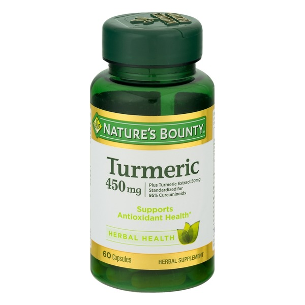 Nature's Bounty Herbal Capsules Turmeric 450 mg - 60 CT