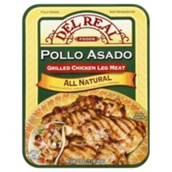 Del Real Grilled Chicken, Leg Meat, Pollo Asado, Tray