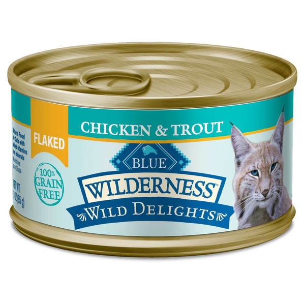 Blue Buffalo Food for Cats, Natural, Flaked, Chicken & Trout