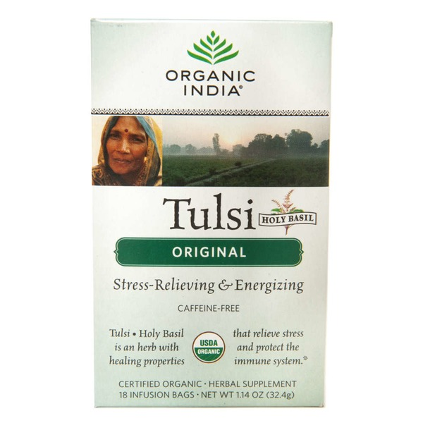 Organic India Tulsi (Holy Basil) Original Caffeine Free Tea