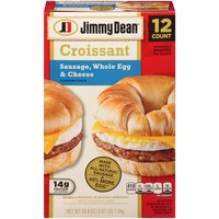 Jimmy Dean Sausage, Whole Egg & Cheese Croissant Sandwiches