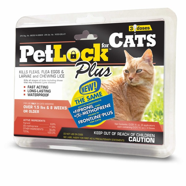 Pet Lock Plus Cat Flea Treatment For Cats 8 Weeks Or Older