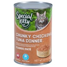 Special Kitty Classic Pate Chunky Chicken & Tuna Dinner Wet Cat Food, 22 Oz
