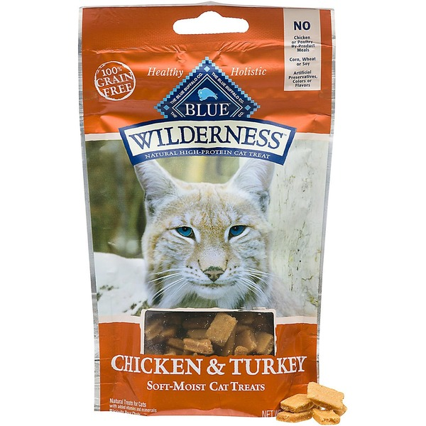 Blue Buffalo Chicken & Turkey Soft-Moist Cat Treats