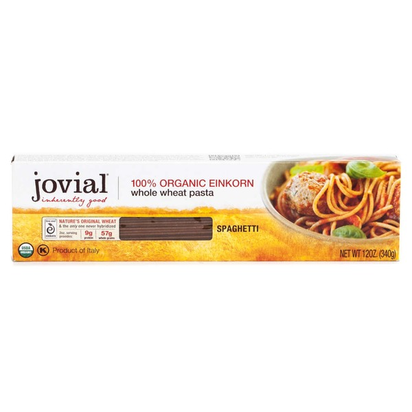 Jovial 100% Organic Einkorn Whole Wheat Pasta