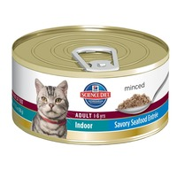 Hill's Science Diet Minced Adult 1-6 yrs Indoor Savory Seafood Entree Cat Food
