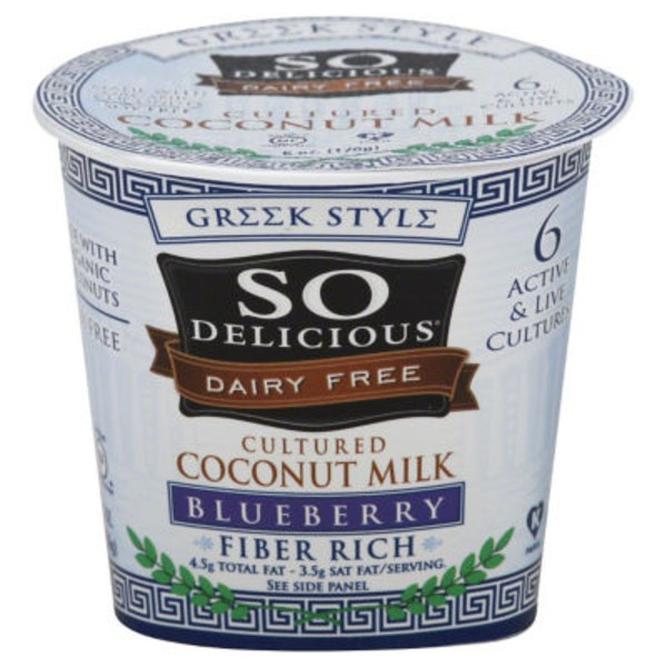 So Delicious Dairy Free Cultured Coconut Milk Yogurt, Blueberry