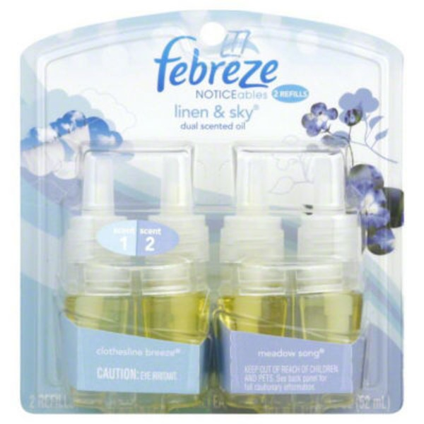 Febreze Noticeables Scented Oil Refills, Linen & Sky