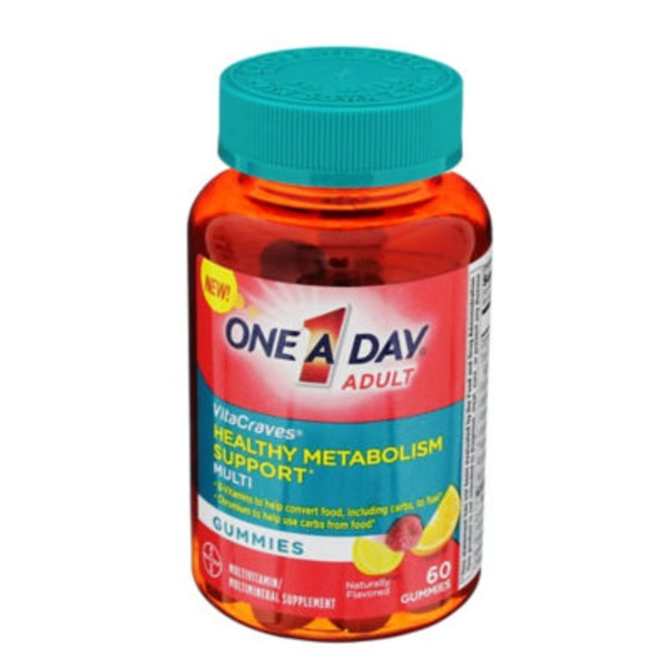 One A Day VitaCraves Adult Healthy Metabolism Support Gummies Multivitamin/Multimineral Supplement
