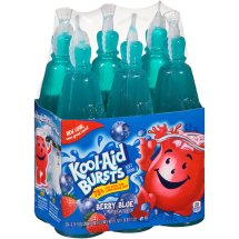 Kool-Aid Bursts Fruit Juice, Berry Blue, 6.75 Fl Oz, 6 Count