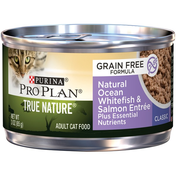 Pro Plan Cat Wet True Nature Adult Ocean Whitefish & Salmon Entree Classic Cat Food