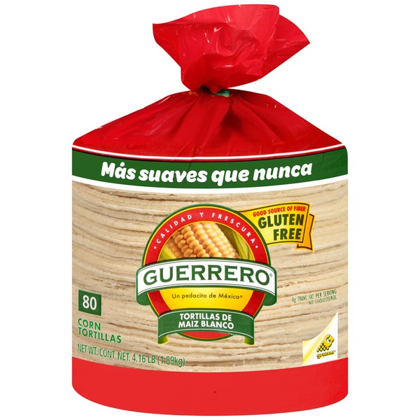 Guerrero White Corn/De Maiz Blanco Tortillas