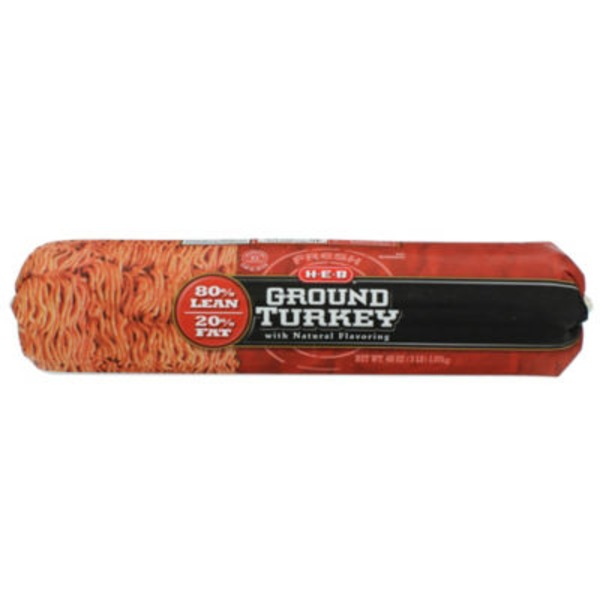 H-E-B Ground Turkey 80% Lean