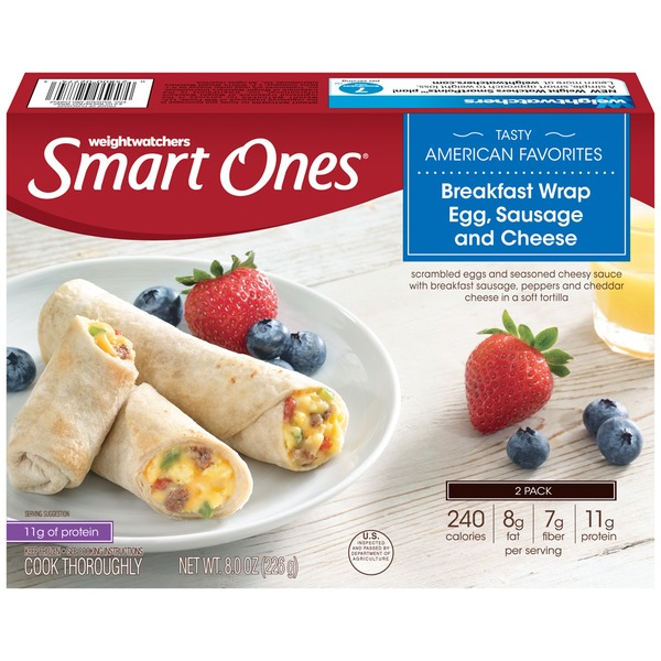 Weight Watchers Breakfast Wrap Egg Sausage & Cheese Tasty American Favorites